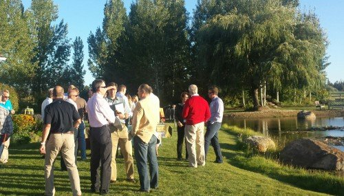 Tim McGinnis hosted the event at his Tumalo ranch.