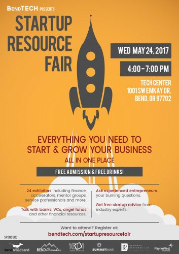 StartUp Resource Fair poster by Stacy Desmond of Saveda Web Strategies