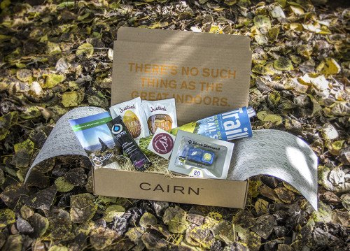 Cairn's October box, which included a Black Diamond head lamp.