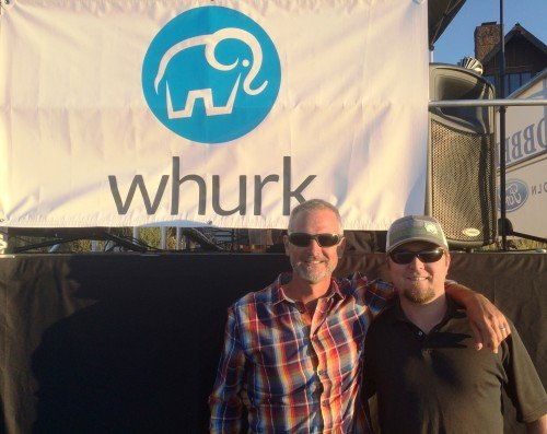 whurk founder Rob Dumas and VP of Product Development, Colin Morrison at the Blitz to the Barrel in Bend last summer.