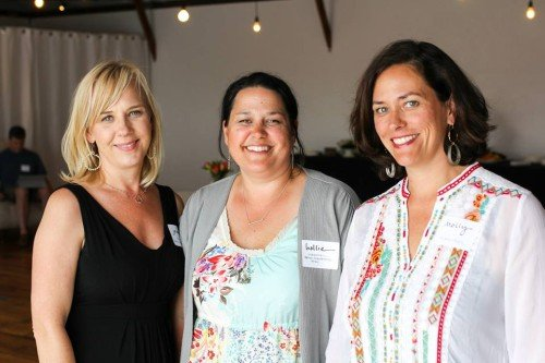 Handsel co-founder Molly Scofield far right; Holly Sheerer, admin of Bend Girlfriend Swap; and Jennifer Houston, founder The Red Balloon Project.